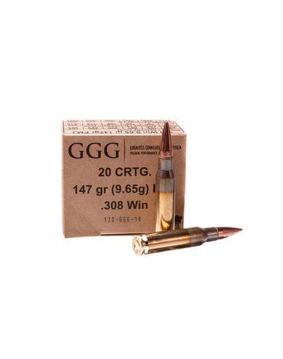 GGG кал.308Win FMJ 147gr, 9.65 г