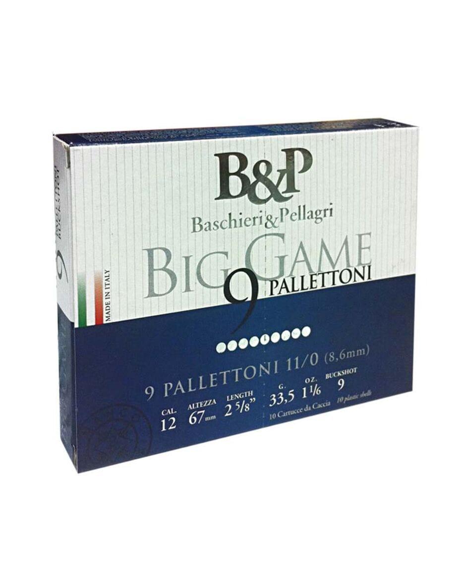 Патрон гладкоствольний B&P BIG GAME PALLETTONI кал.12 №11/0