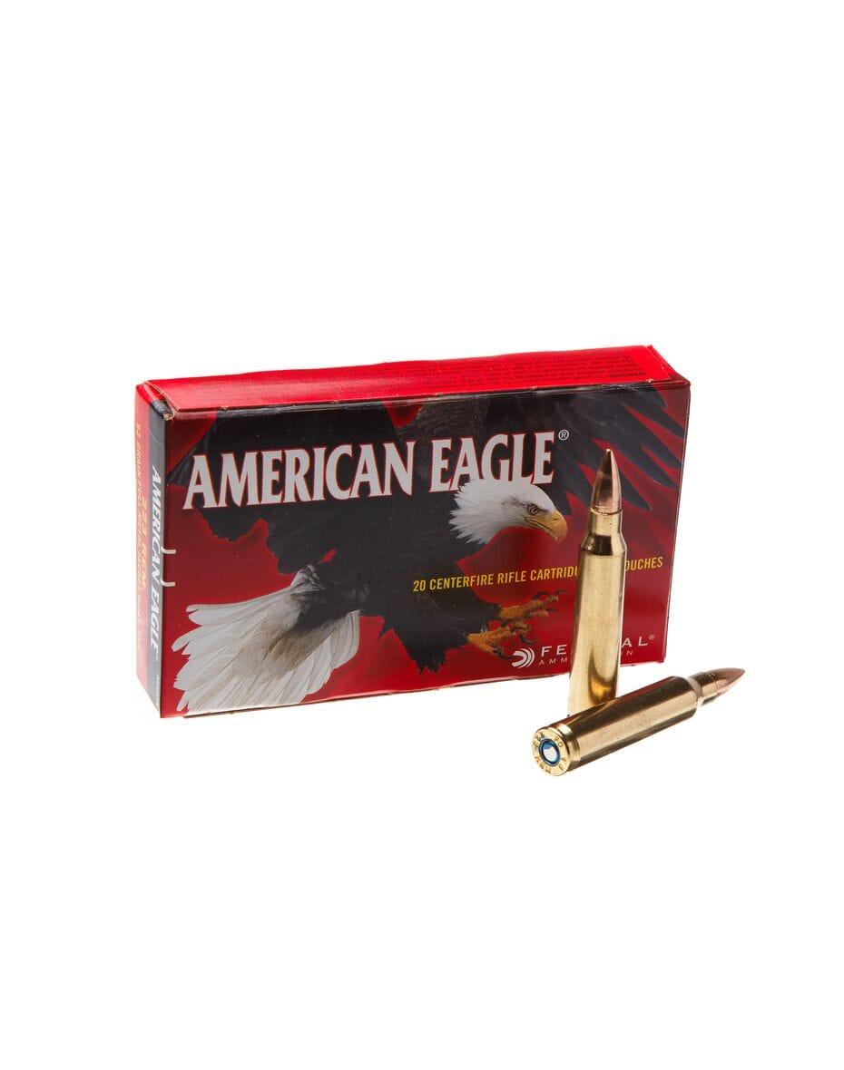 Federal American-Eagle 223rem FMJ BT 4,0гр (62GR)